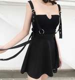 2019 GOTH DRESS - EYELET CROSS OVERALL
