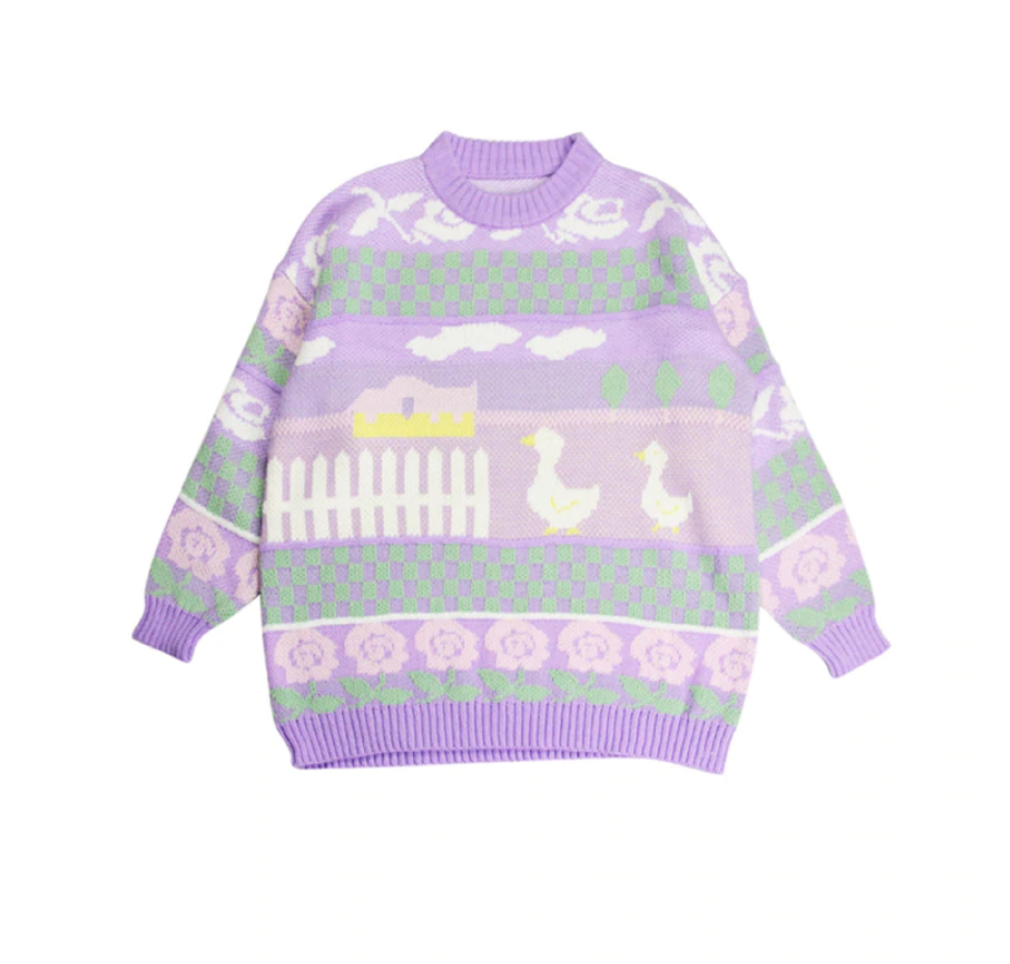 PASTEL KAWAII DUCKY SWEATER
