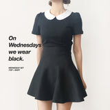 WEDNESDAY ADDAMS PETER PAN COLLAR TOP