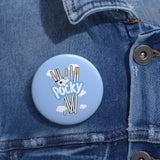 MILK POCKY BLUE Pin Buttons
