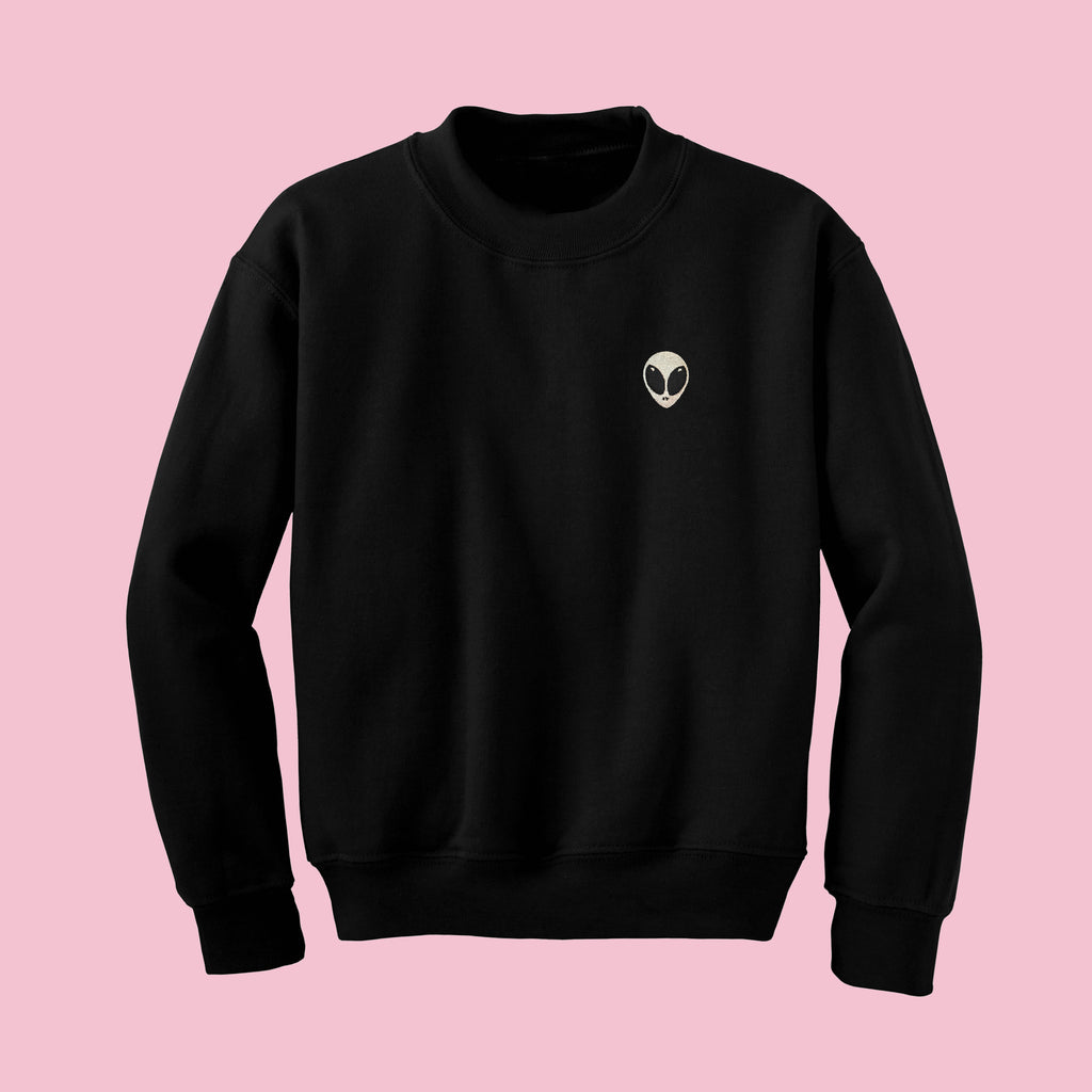 KOKO EMBROIDERY BLACK alien JUMPER