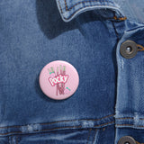 PEACHY POCKY Pin Buttons
