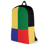 90s kids color block BACKPACK - SWEATSHOP-FREE MADE IN USA