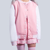 KAWAII HIGH QUALITY PINK baseball jacket