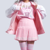 KAWAII PINK baseball jacket
