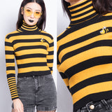 FREE SHIP- BEE HAPPY KNIT TOP