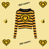 BEE HAPPY KNIT TOP