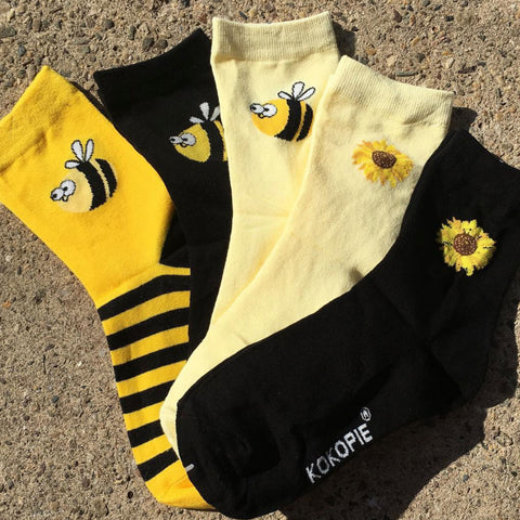 2018 BEE HAPPY FLOWER CHILD UNISEX SOCKS SET