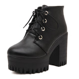 MUST HAVE FALL BOOTS SALE-MOTO HEEL Grunge BOOTS