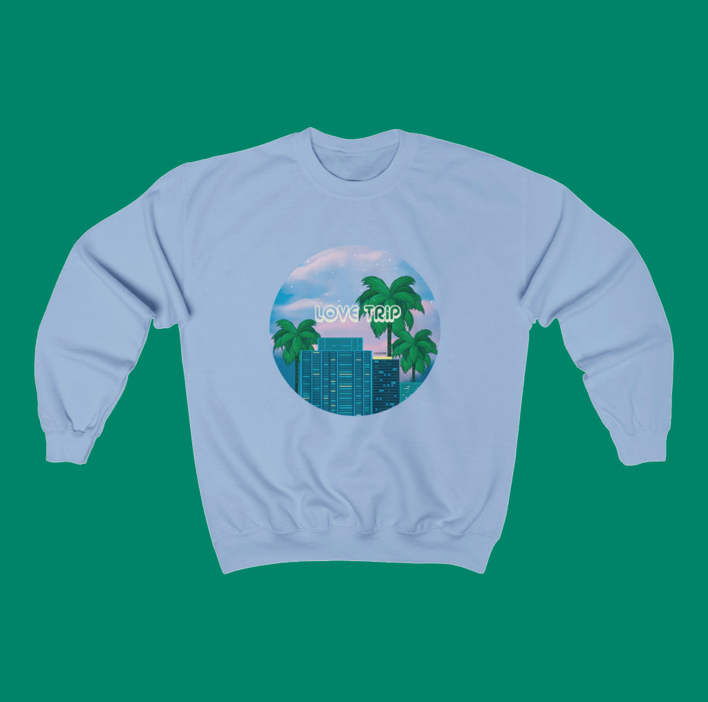 80s Japanese City Pop Aesthetic - LOVE TRIP unisex jumper