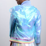 2 YEAR ANNIVERSARY SALE  - RAINBOW sheer hoodie jacket
