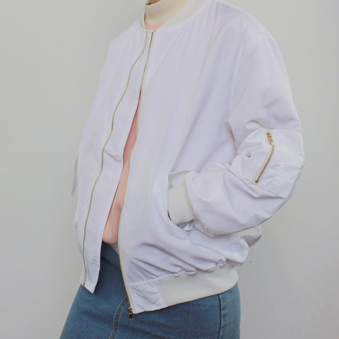 WHITE KOKO BOMBER JACKET