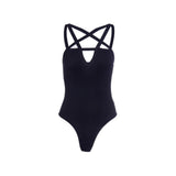2019 NEW spring/summer GOTH STAR CUT OUT Bodysuit