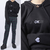 "BROKEN HAERT  - NEW KOKO ""brOKen but I am OK"".  HOODIE CROP"