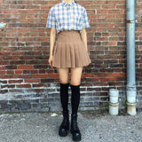 Soft Grunge Plaid top + KOKO SKIRT