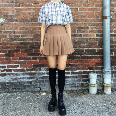 2018 Soft Grunge Plaid top + KOKO FALL SKIRT