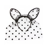 FREE SHIP-KAWAII GOTH BUNNY EAR hair band