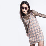 PREPPY KOKO PLAID A-LINE DRESS