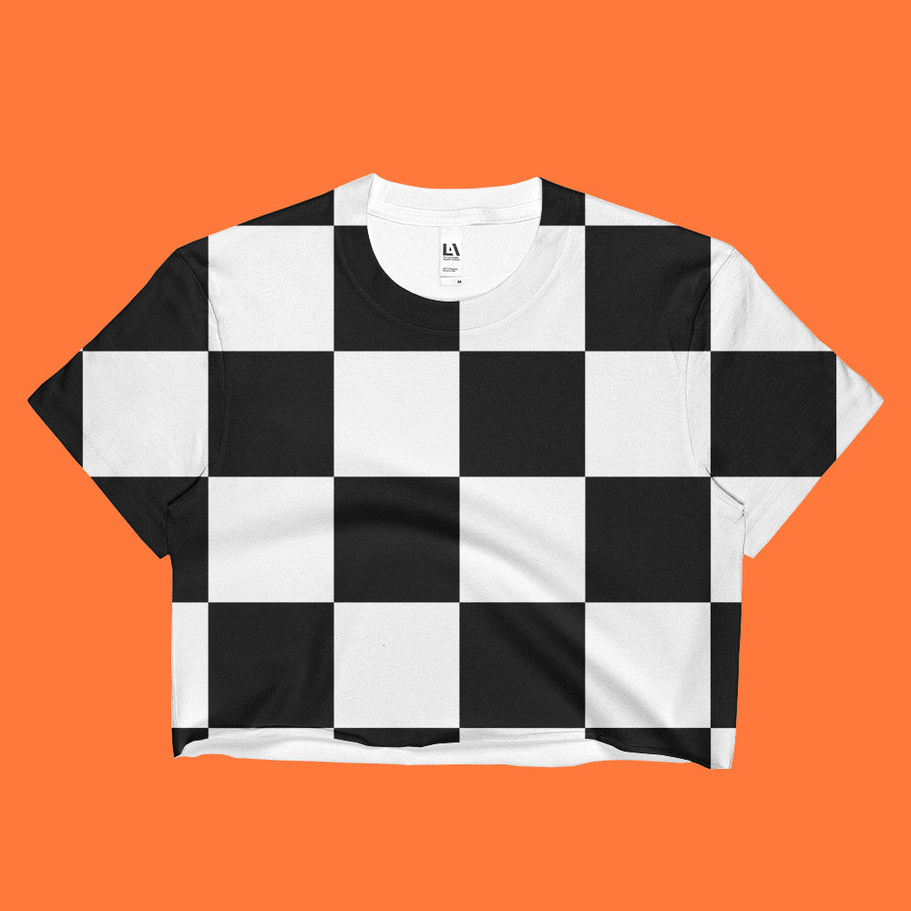 2017 BLACK FRIDAY - CHESS 90S CROP TOP -MADE IN USA (SWEATSHOP-FREE)