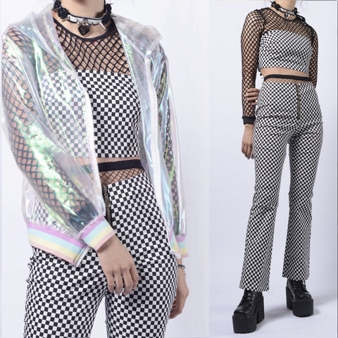 90S KIDS- CHECKER TOP + TROUSERS SET