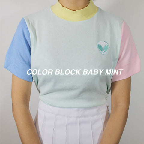 PASTEL COLOR BLOCK TOP