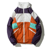 2019 NEW COLOR BLOCK UNISEX VINTAGE 90S JACKET