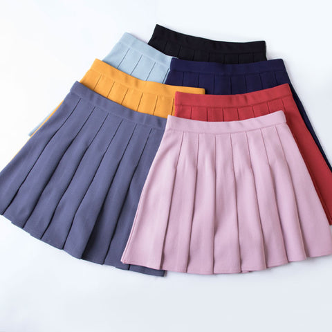 KAWAII SPRING SUMMER CANDY PLEATED SKIRT