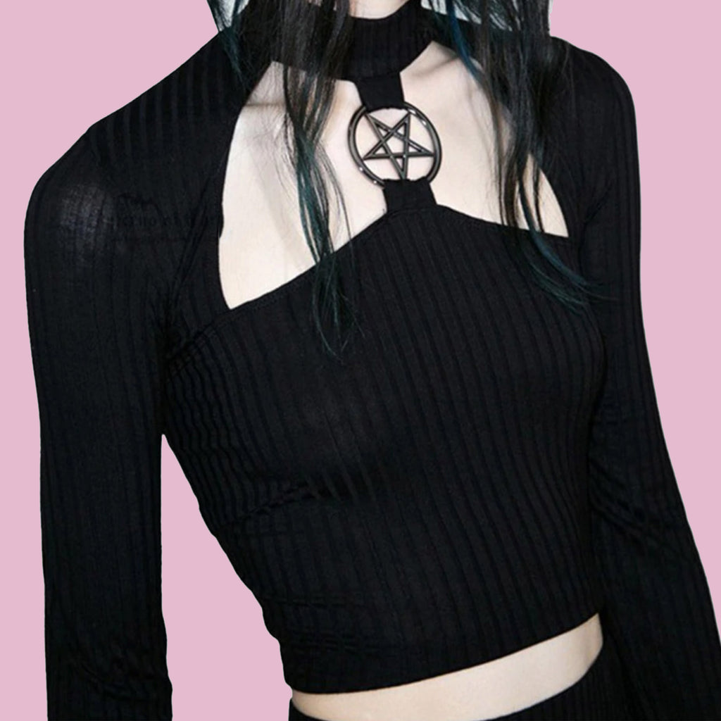 NOVEMBER SPECIAL DEAL - STAR GOTH CROP TOP