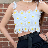 2019 TAKE THESE FLOWERS DAISY CROP TOP