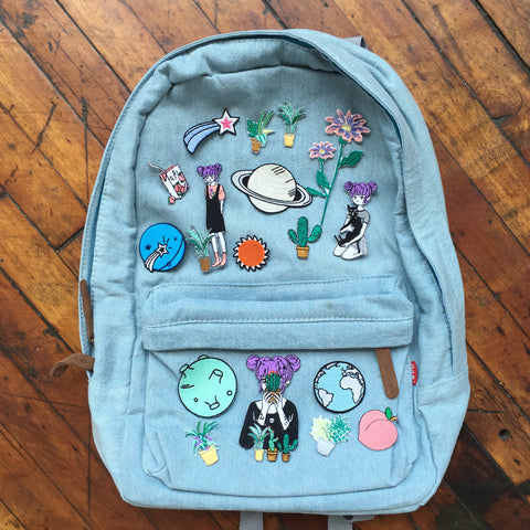 2017 BLACK FRIDAY-soft grunge koko canvas denim backpack