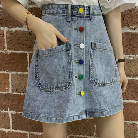 KAWAII A LINE K POP Fashion Denim A line Skirt
