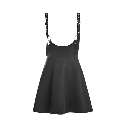 2019 GOTH DRESS - EYELET OVERALL DRESS