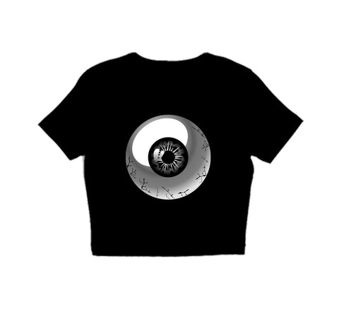 BLACK FRIDAY SALE-eyeball CROP TOP