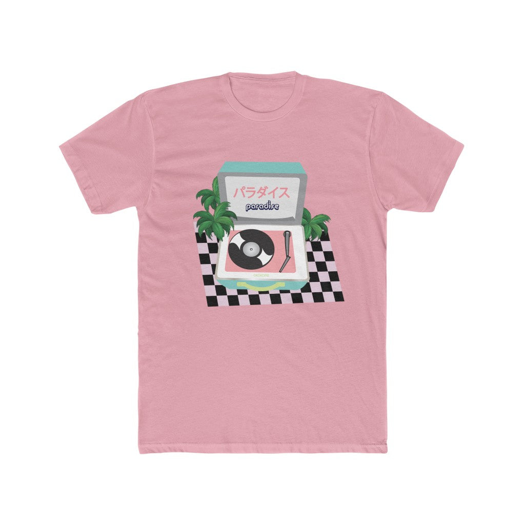 80s Japanese City Pop Aesthetic - PARADISE VINTAGE RECORD UNISEX TEE