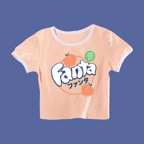 2019 KOKO FANTA KAWAII PEACHY CROP TOP TEE