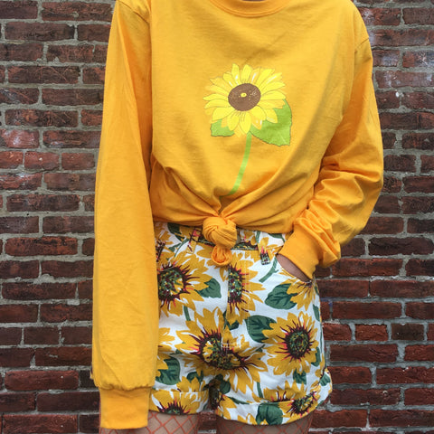 FLOWER CHILD- sunflower LONG SLEEVE UNISEX