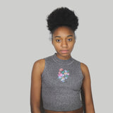 BLACK FRIDAY SALE-soft grunge flower koko crop top