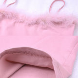 PINK BABE FURRY TOP