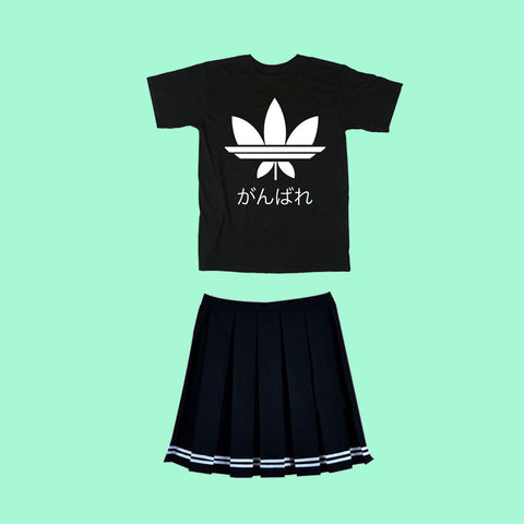 GANBARE  TOP AND SKIRT set