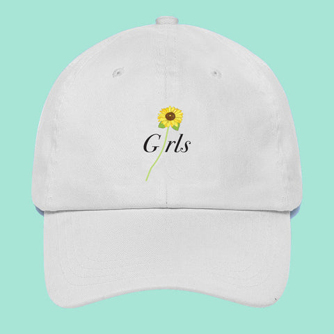 GIRLS POWER- NEW ITEMS GIRLS -SOFT GRUNGE SUNFLOWER UNISEX CAP