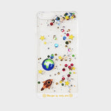 GLITTER SOLAR SPACE iPHONE CASE