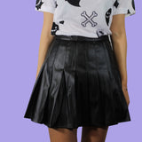 NEW 2017 DESIGN VEGAN PU LEATHER SKIRT