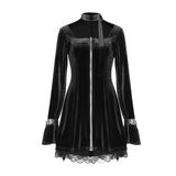 2020 NEW Velvet Choker goth dress