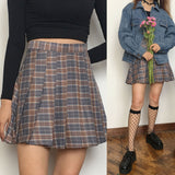 FLASH SALE - GREY KAWAII PLAID SKIRT