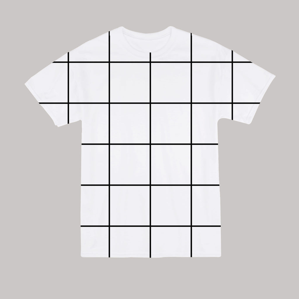AESTHETIC KOKO GRID UNISEX TEE - Plus size available
