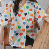 2019 KAWAII HEART ALL OVER BLOUSE