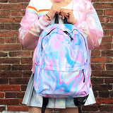 HOLO MARBLE TUMBLR SOFT GRUNGE BACKPACK - SWEATSHOP-FREE MADE IN USA