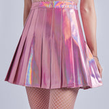 BLING BLING HOLOGRAPHIC TENNIS SKIRT
