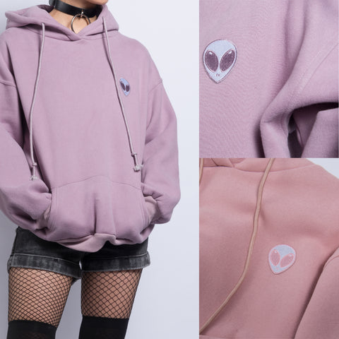 FREE SHIPPING KOKO-Alien embroidery Hoodie