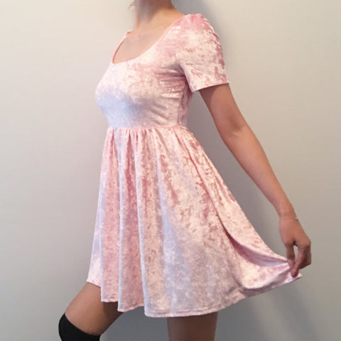 SAMPLE FINAL SALE - PINK KAWAII VELVET DRESS